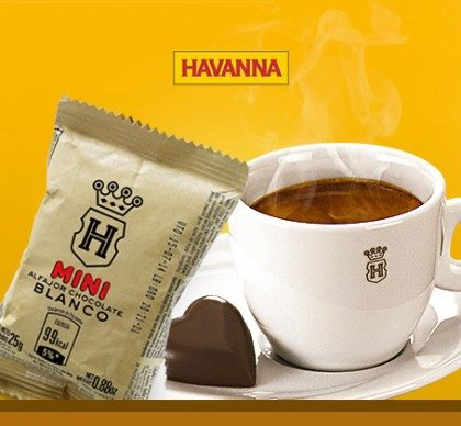Combo Espresso: 1 Mini Alfajor Branco ou Chocolate + 1 Café Espresso Havanna