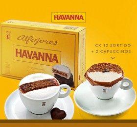 Combo Família: Compre Caixa c/ 12 Alfajores e ganhe 2 Cappuccinos Havanna