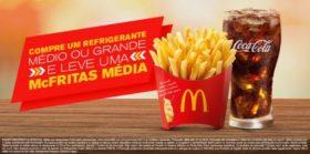 Compre um Refrigerante M ou G e leve uma McFritas M