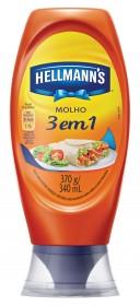 Molho HELLMANN'S 3 em 1 Squeeze 370g!