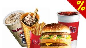 cupons de desconto fast food bob's