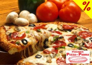 cupom de desconto pizza na pedra pizzaria