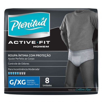 Fralda PLENITUD Geriátrica Active Masculino Pacote com 8 Unidades! P/M e G/XG