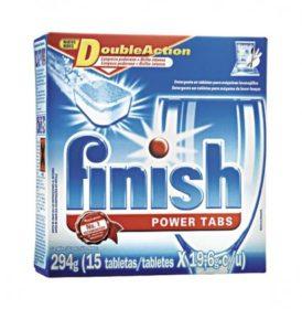 Detergente em Tabletes para Lavar Louça FINISH Power com 15 Unidades 295g!