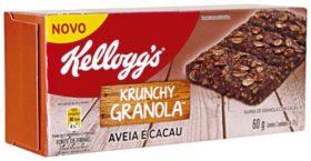 Cereal em Barra de Granola com Cacau ou Mel KELLOGGS 60G!