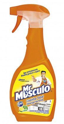 Limpador Desengordurante para Cozinha Total Mr MUSCULO Limão ou Laranja Aparelho 500ml!