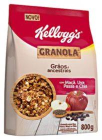 Granola KELLOGG´S Sachê 800g! Sabores Tradicional, Frutas e Chocolate