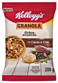 Granola KELLOGG´S Sachê 200g! Sabores Tradicional, Frutas e Chocolate
