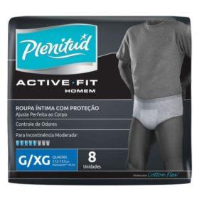 Fralda PLENITUD Geriátrica Active Masculino Pacote c 8 Unidades! P/M e G/XG
