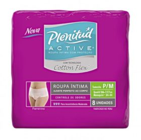 Fralda PLENITUD Geriátrica Active Feminino Pacote c 8 Unidades! P/M e G/XG