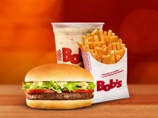 BOB'S BURGER P + BATATA PALITO M + MILK SHAKE P POR R$13,00