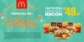 3 McOfertas McNífico Bacon R$49,50