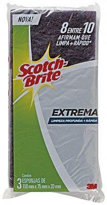 Esponja SCOTCH BRITE Extrema com 3 Unidades!