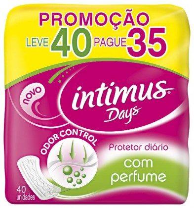 Protetor Diário Intimus Days Perfumado ou Sem Perfume Leve40 Pague35!