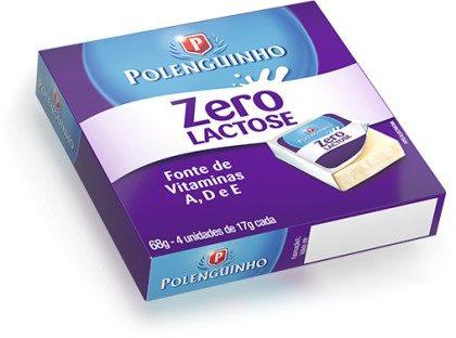 Polenguinho Zero Lactose c/4 68g!