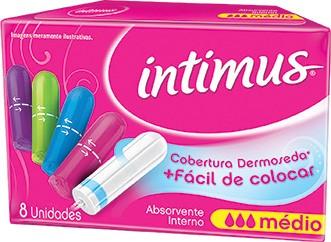 Absorvente Interno INTIMUS Médio, Super e Mini Caixa com 8 Unidades!