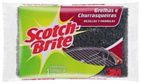 Esponja SCOTCH BRITE de Fibra para limpeza de Grill!