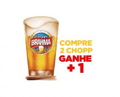 Compre 2 Chopp Brahma Claro 350ml e GANHE mais 1 [18+ anos]