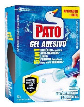 Desodorizador de Sanitário PATO Gel Adesivo 5 em 1 38g!