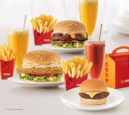 Combo Bib's Chicken Crispy + Combo Bib's Burguer Kafta + Kit Infantil por apenas R$44,90