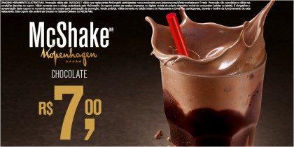 McShake Chocolate Kopenhagen R$7