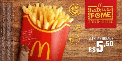 McFritas Grande R$5,50 – Bateu a Fome