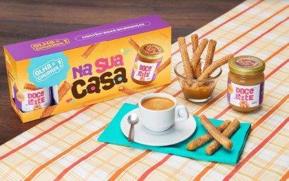 Kit 50 Galletas Congeladas + Pote de Doce de Leite 220g + Pacote de Açúcar e Canela