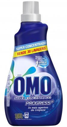 30% de desconto: Lava Roupas Líquido OMO Super Concentrado Progress 1,05 Litros!