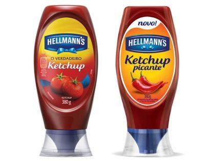 30% de desconto: Ketchup HELLMANN'S Tradicional e Picante Squeeze 380g!