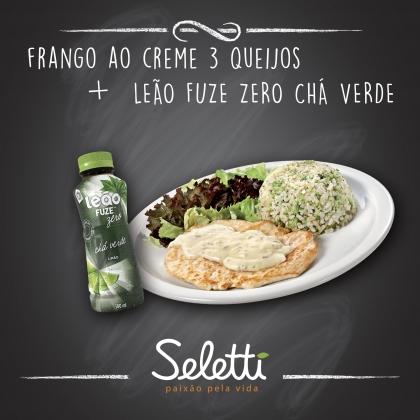 Combo Frango 3 Queijos (Frango ao creme 3 queijos + Chá Verde) – Shopping Center 3