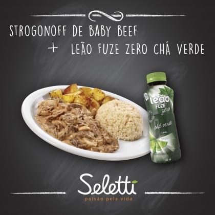 Combo Strogonoff (Strogonoff de Baby Beef + Chá Verde) – Shopping Center 3