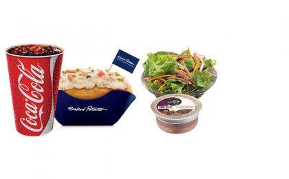 Batata Salmão + Refrigerante 500ml + Sobremesa ou Saladinha por apenas R$ 25,00