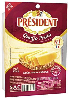 GRÁTIS: Queijo Prato PRÉSIDENT Fatiado 150g!