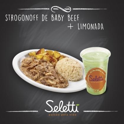 Combo Strogonoff (Strogonoff de Baby Beef + Suco Tradicional) – Shopping Center 3