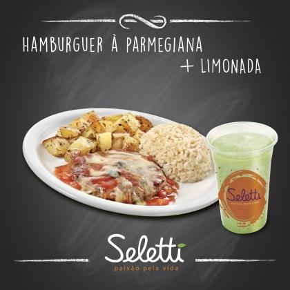 Combo Parmegiana (Hambúrguer à Parmegiana + Suco Tradicional) – Shopping Center 3
