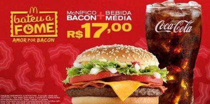 McNífico Bacon + Bebida Média R$17,00 - Bateu a Fome