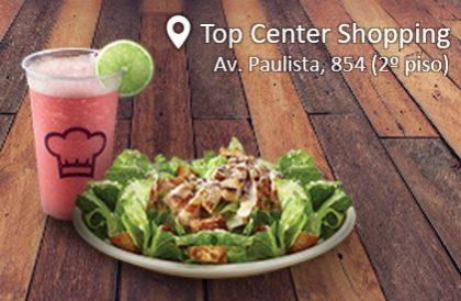 Salada Caesar + Pink Lemonade