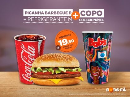 Picanha Barbecue P + Refrigerante M + Copo Exclusivo Rock in Rio por R$ 19,50