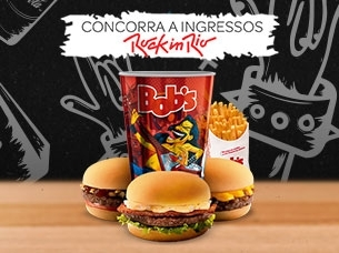 TRÊS MINI BURGERS + BATATA M + REFRI M + COPO BRINDE POR R$ 23,00