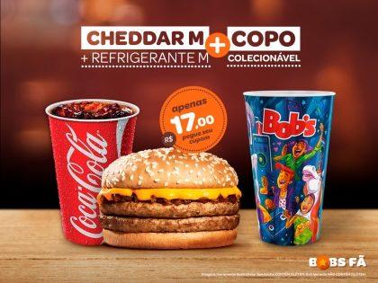 Cheddar M + Refrigerante M + Copo Exclusivo Rock in Rio por R$ 17,00