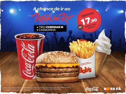 Cheddar M + Batata Palito M + Refri M + Casquinha por R$ 17,90