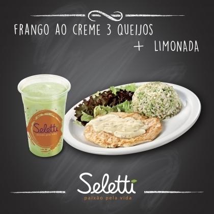 Center 3: Combo Frango 3 queijos (Frango com Acompanhamentos + Limonada)