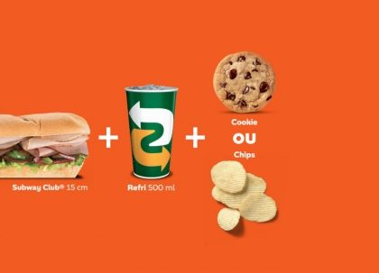 Bourbon Shopping: COMBO CLUB (Sanduíche Subway Club® 15cm + Refri 500ml + Cookie ou Chips)
