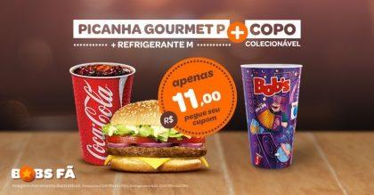 Picanha Gourmet P + Refri M + Copo Exclusivo Rock in Rio por R$ 11,00