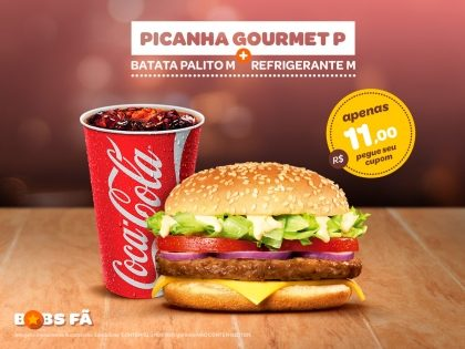 Picanha Gourmet P + Refri M por R$11,00