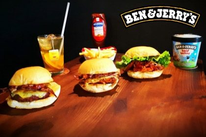 Combo R$ 35: Honey Chicken + Drink de Chá Lipton + Batata McCain + Sorvete Ben & Jerry's 458ml