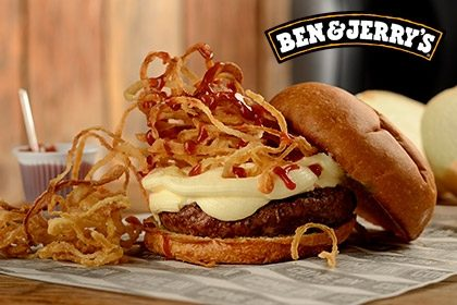 Combo R$ 35: Mix Burger + Drink de Chá Lipton + Batata McCain + Sorvete Ben & Jerry's 458ml