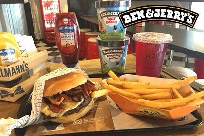 Combo R$ 35: Qualquer Burger + Drink de Chá Lipton + Batata McCain + Sorvete Ben & Jerry's