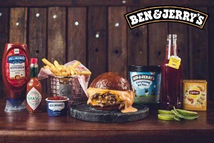 Combo R$ 35: Burger Monstrão + Drink de Chá Lipton + Batata McCain + Sorvete Ben & Jerry's 458ml