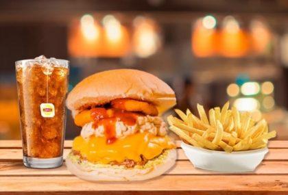 Combo R$ 25: Burger STORM + Drink de Chá Lipton + Batata McCain